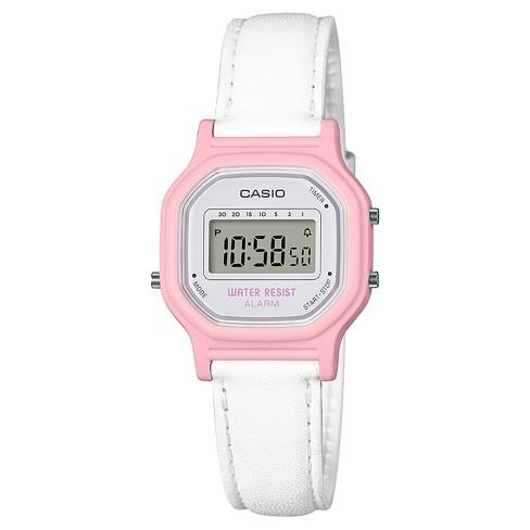 Women's Casio® LA11WL-4A Digital Watch - White/Pink - image 1 of 1