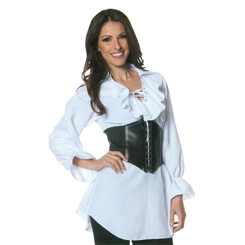 Women's Pirate lace Front Blouse Costume - image 1 of 1