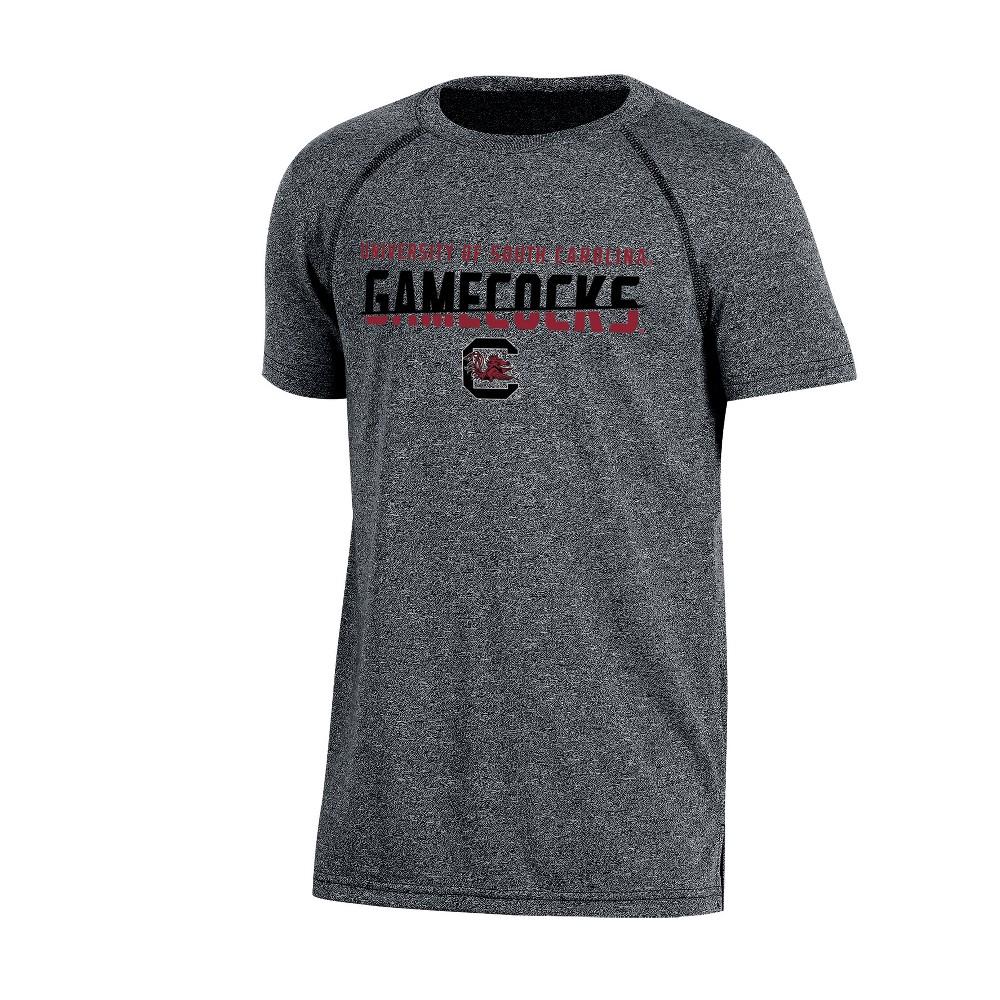 South Carolina Gamecocks Boys' Short Sleeve Crew Neck Raglan Performance T-Shirt - Gray Heather S, Multicolored