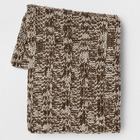 Cable Knit Throw Blanket - Gray - Threshold™ - image 1 of 2