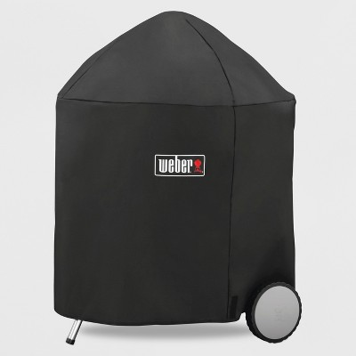 """Weber  26"""" Charcoal Premium Grill Cover- Black"""