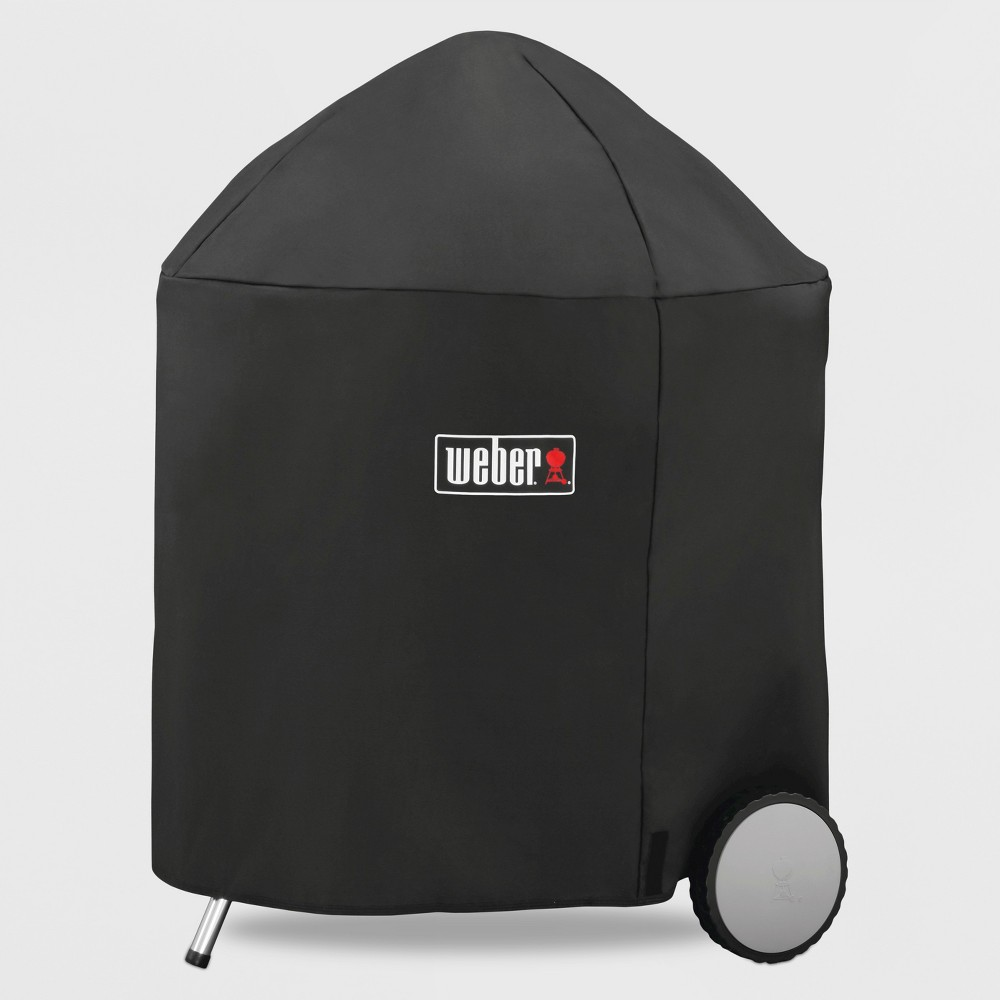 Weber 26 Charcoal Premium Grill Cover- Black 52062236