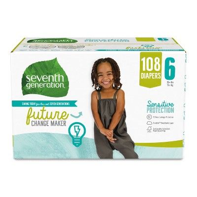Seventh Generation XXL Pack Diapers - 108ct