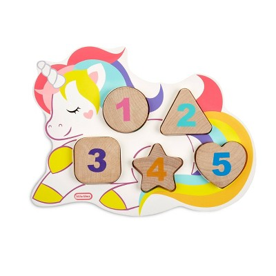 Wooden Critters Number Puzzle - Unicorn