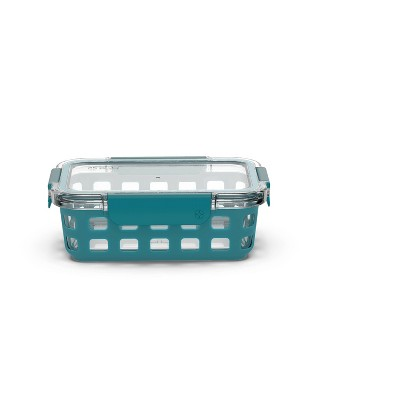 Ello 3.4 Cup Glass Food Storage Container Teal