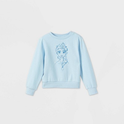 Toddler Girls' Frozen Elsa Fleece Pullover - Blue 3T