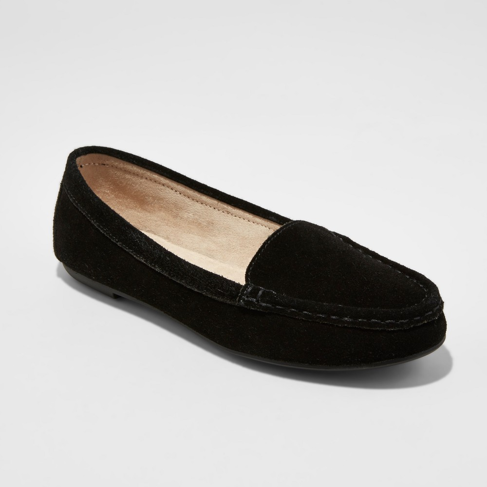 Women's Dorothy Driving Moccasin Loafers - Merona Black 9