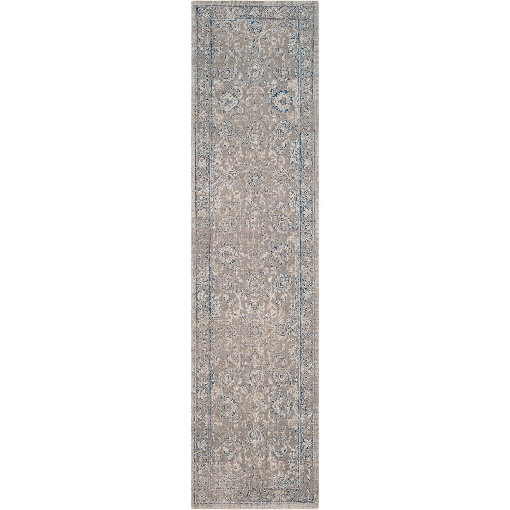 22X12 Floral Loomed Runner Taupe/Blue - Safavieh Price