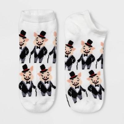 Women's Dapper Pig Low Cut Socks - Xhilaration™ White 4-10