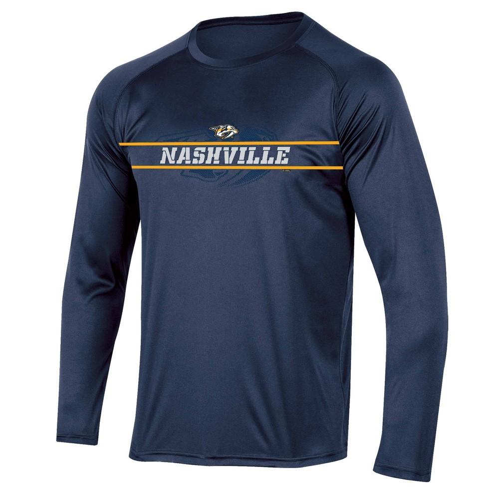 Nhl Nashville Predators Men 39 S Icing Long Sleeve Performance T Shirt S