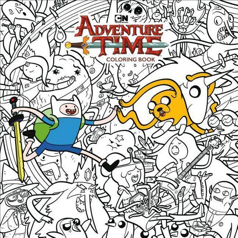 Adventure Time Adult Coloring Book Volume 1 - (Paperback)