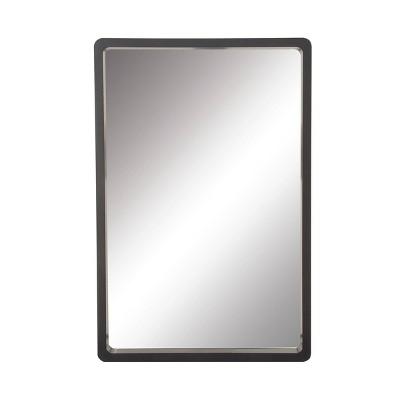 "36"" x 23"" Modern Rectangular Wooden Framed Wall Mirror Black - Olivia & May"