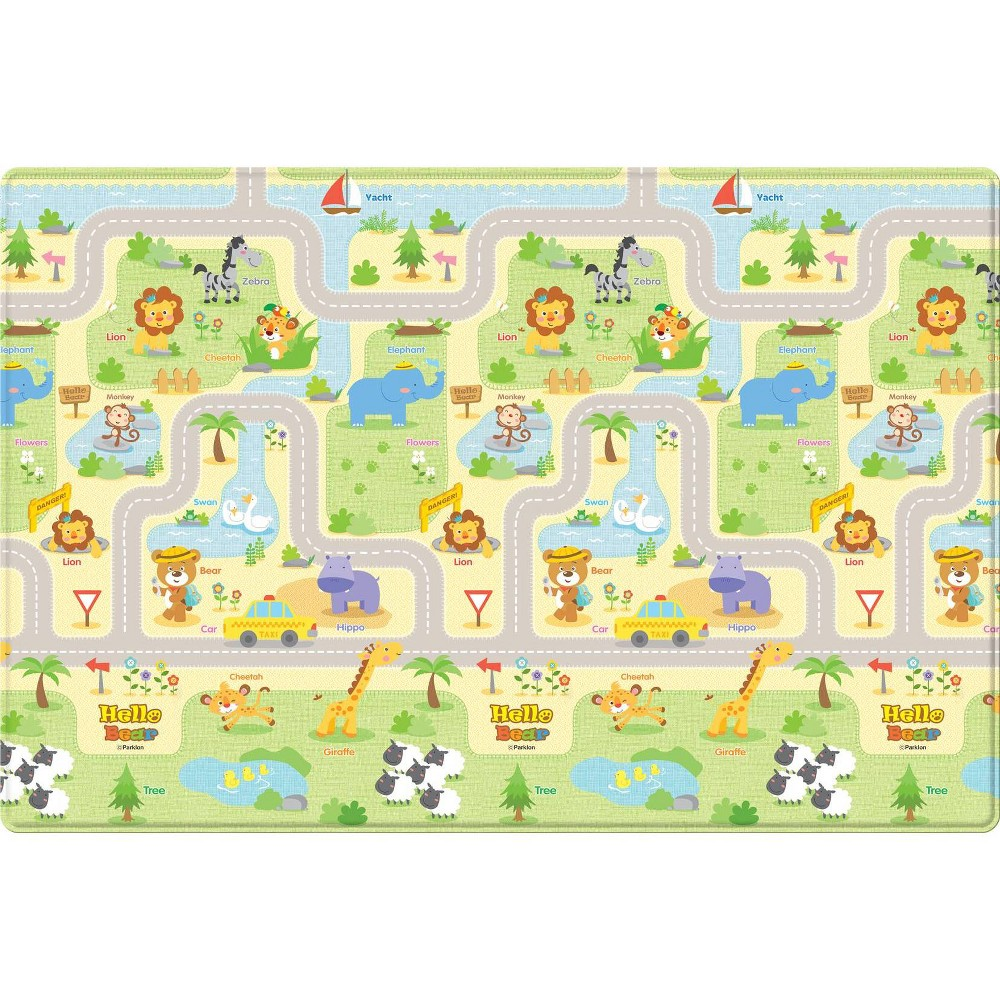 Image of Parklon Hello Bear Smiletown Soft Baby Play Mat- Small