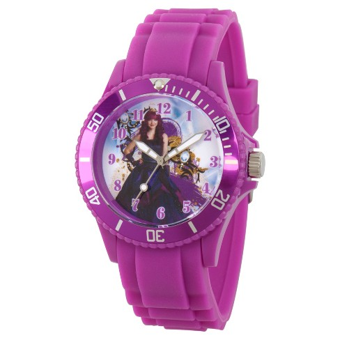 Women's Disney Descendants 2 Mal Purple Plastic Watch - Purple - image 1 of 1