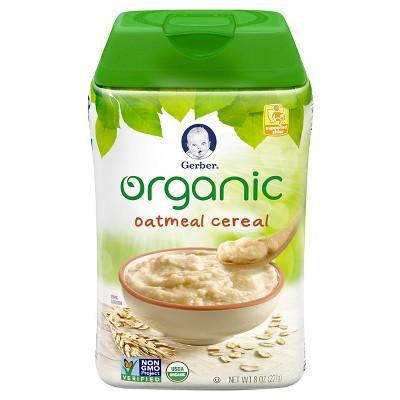 Gerber Organic Single Grain Oatmeal Baby Cereal - 8oz