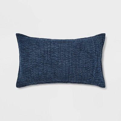 Quilted Solid Lumbar Pillow Chambray - Threshold™