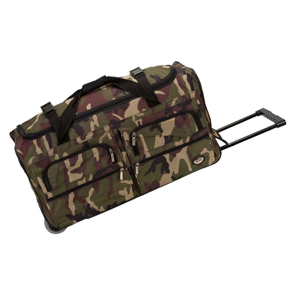Rockland 30 Rolling Duffel Bag - Camo, Camouflage Green