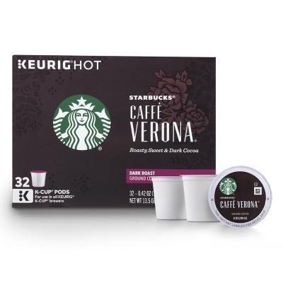 Starbucks Caffe Verona Dark Roast Coffee - Keurig K-Cup Pods - 32ct
