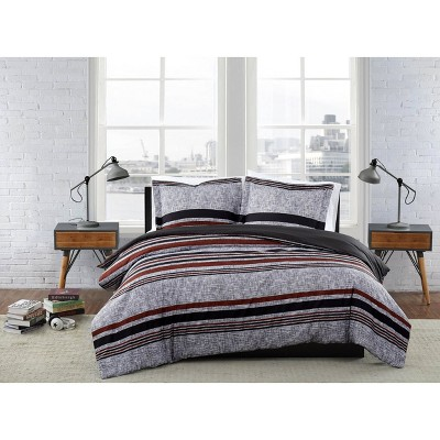London Fog Warren Stripe Duvet Set