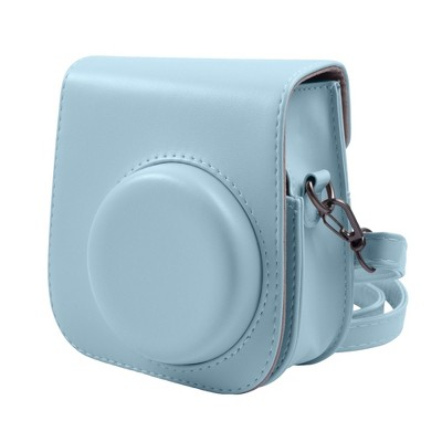 Insten Case For Fujifilm Instax Mini 11 Camera, Protective Soft PU Leather Case with Adjustable Shoulder Strap, Blue