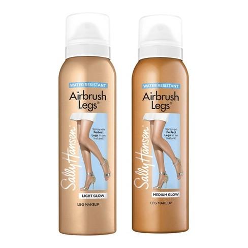 Sally Hansen Airbrush Legs Spray - 01 Light Glow & 02 Medium Glow - 2pc/4.4 fl oz ea - image 1 of 3