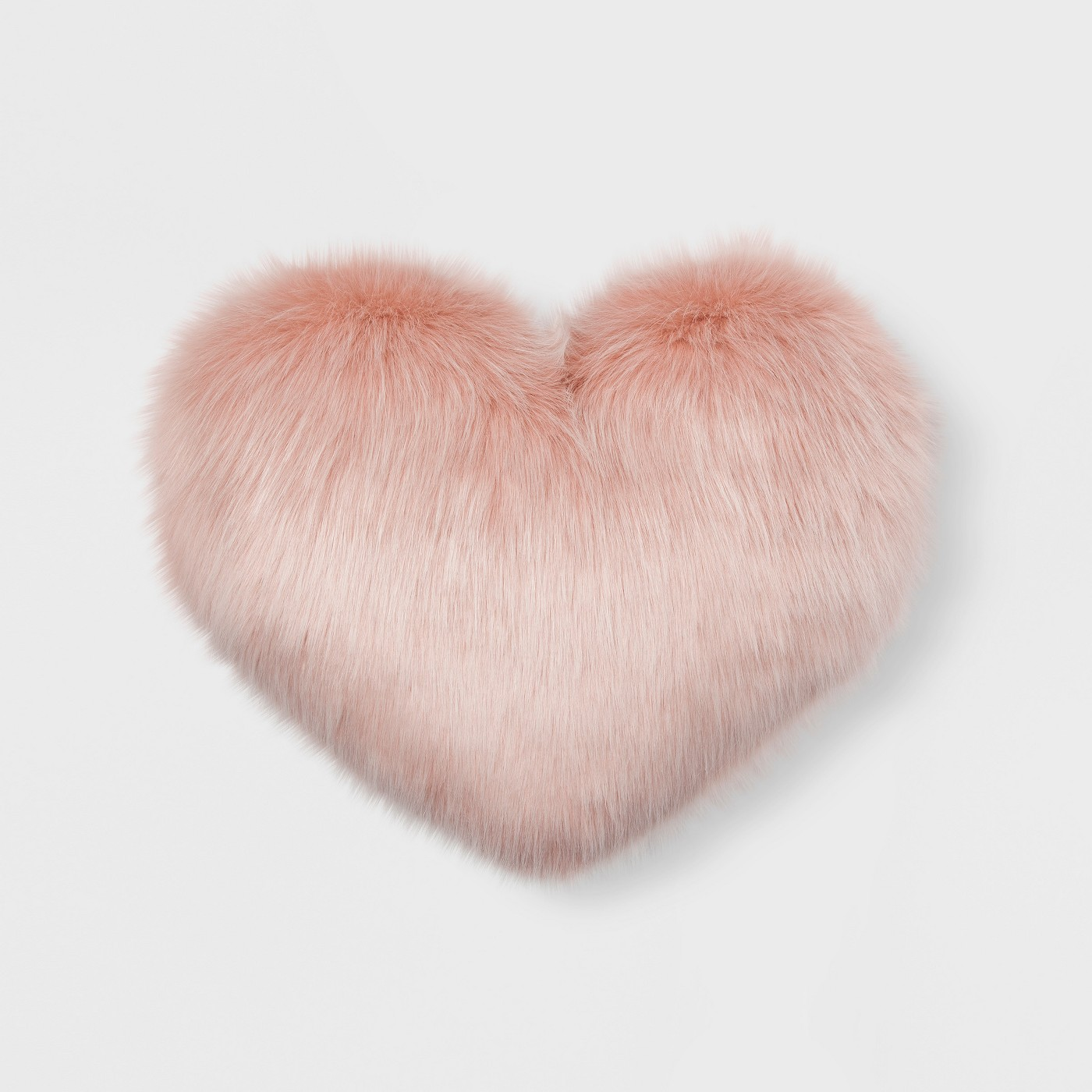 Faux Fur Oversized Heart Throw Pillow - image 1 of 2