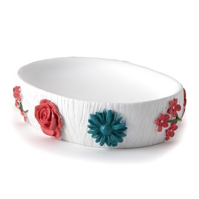 Lakeside Spring Truck Bathroom Countertop Soap Dish with Floral Accents