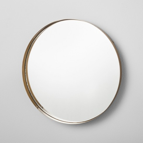 "Round Mirrored Brass Tray (14"") - Hearth & Hand™ with Magnolia - image 1 of 4"