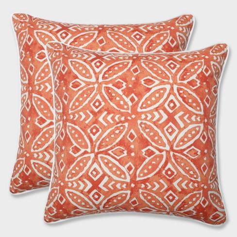 """16.5"""" 2pk Merida Pimento Throw Pillows Orange - Pillow Perfect - image 1 of 3"""