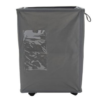 Mind Reader 65 Liter Rolling Laundry Hamper