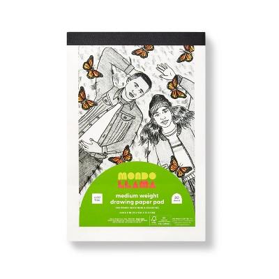 """6""""x9"""" Medium Weight Drawing Paper Pad - Mondo Llama™"""