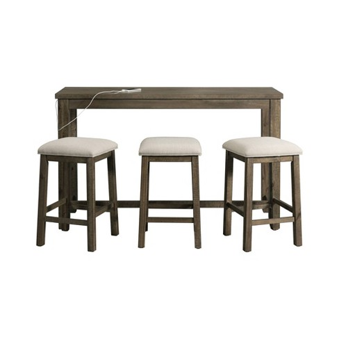 Stanford Multipurpose Bar Table Set Distressed Gray - Picket House Furnishings - image 1 of 4