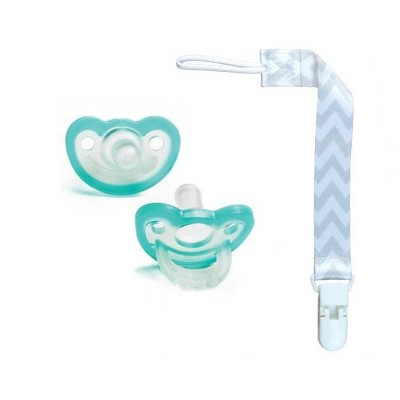 RaZbaby JollyPop Pacifier With Universal Holder 2pk - Gray