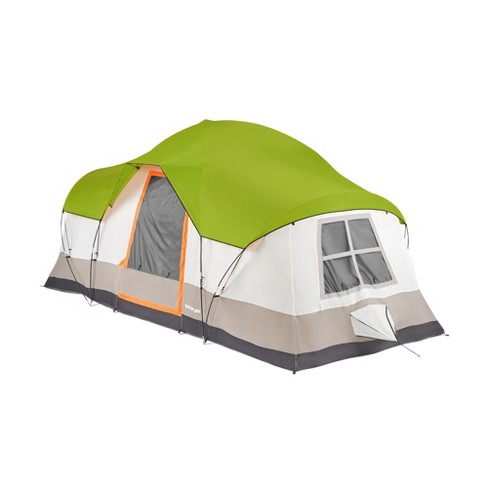 Tahoe Gear Olympia 10 Person 3 Season Outdoor Hiking Family Backpack Camping Tent, Green and Orange - image 1 of 4