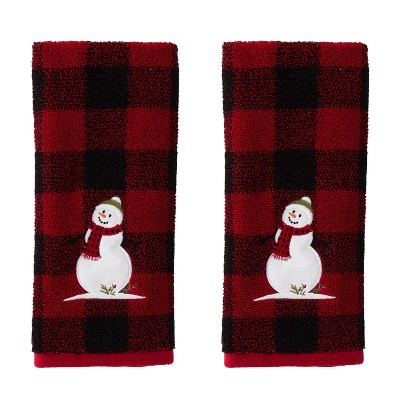 2pc Woodland Winter Hand Towel Set Red - SKL Home