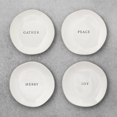 Stoneware Appetizer Plates - Set of 4 - Hearth & Hand™ with Magnolia