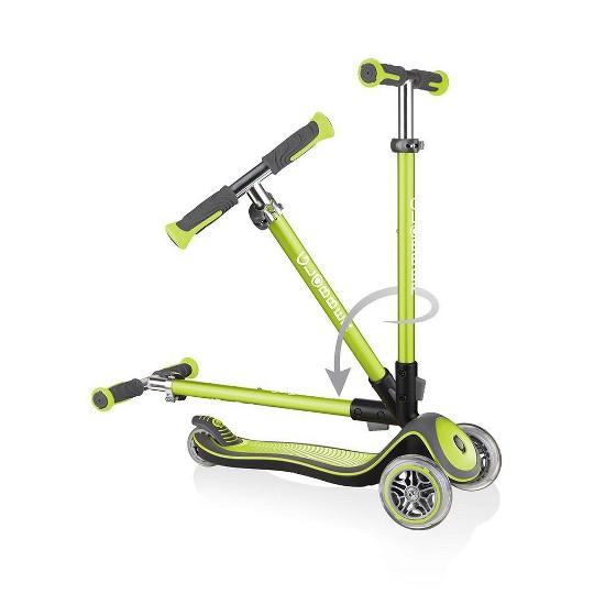 Globber Elite Deluxe Kick Scooter - Lime Green, Kids Unisex image number null