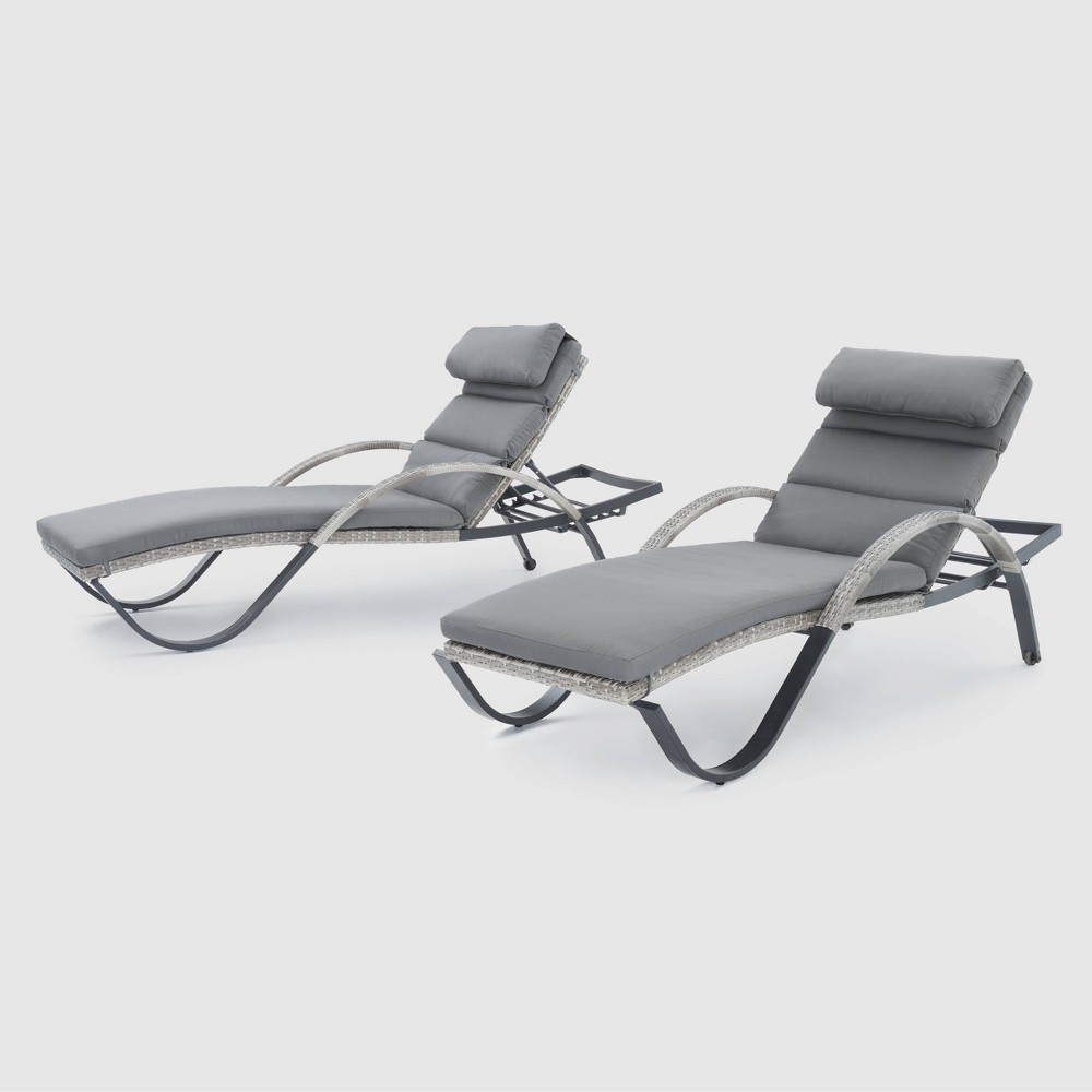 Rst Brands Cannes Chaise Lounges Set of 2 - Charcoal Gray