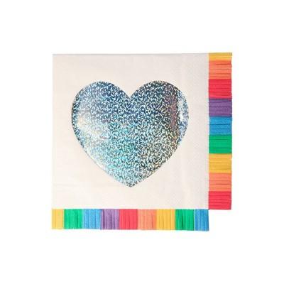 Meri Meri Rainbow Fringe Large Napkins