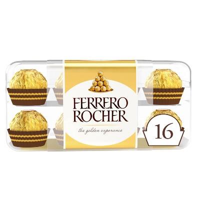 Ferrero Rocher Fine Hazelnut Chocolates - 7oz/16ct