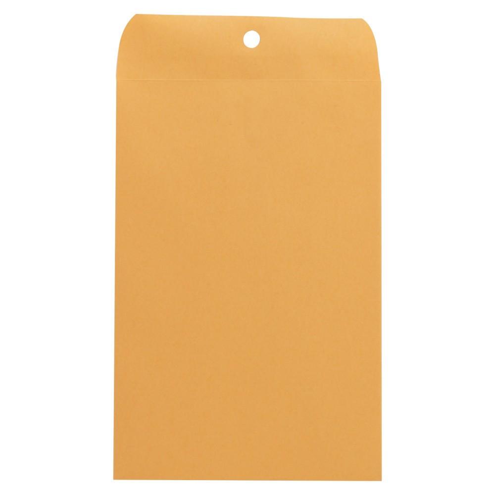 Universal Kraft Clasp Envelope, Center Seam, 28lb, 10 x 15, Brown Kraft, 100/Box (35268)