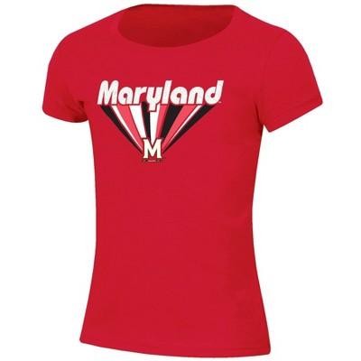 NCAA Maryland Terrapins Girls' Short Sleeve Scoop Neck T-Shirt