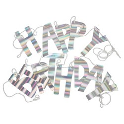 Iridescent Happy Birthday Party Banner - Spritz™