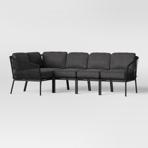 Standish Patio Sectional Charcoal - Project 62™ - image 1 of 15