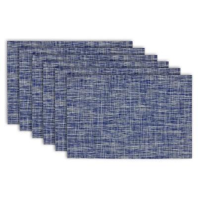 6pk Blue Placemat (13 x19 )- Design Imports