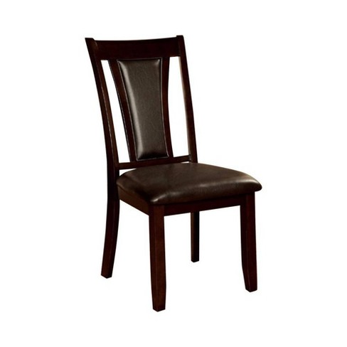Set of 2 Simplistic Design Transitional Side Chairs Dark Cherry - Benzara - image 1 of 4