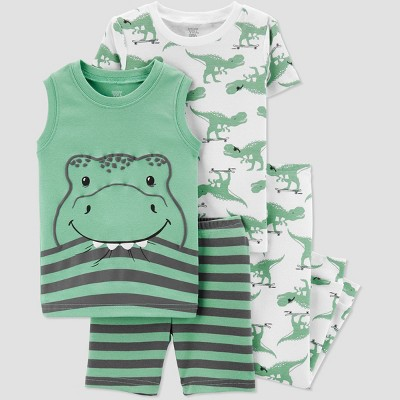 Baby Boys' 4pc Alligator Pajama Set - Just One You® made by carter's Green 12M