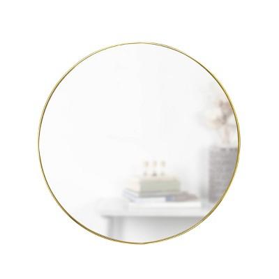 """34"""" Hubba Round Wall Mirror Brass - Umbra"""
