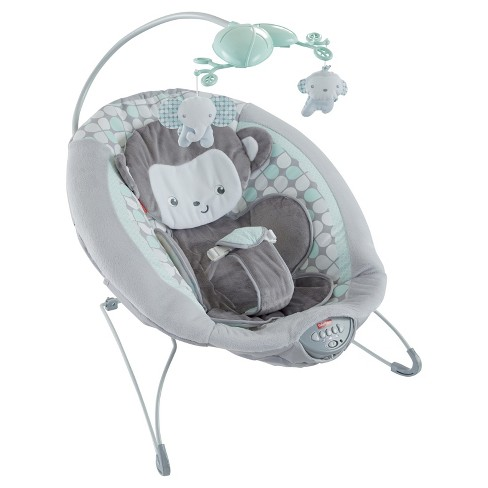 Fisher-Price Sweet Surroundings Monkey Deluxe Bouncer - image 1 of 15