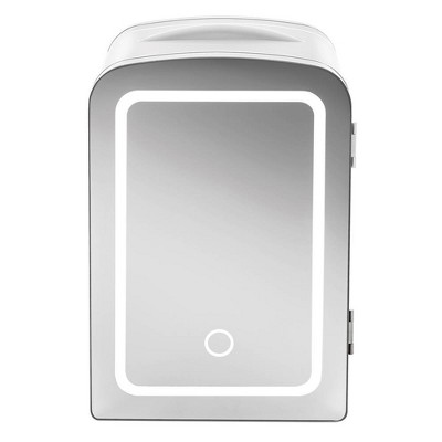 Mirror 0.52 cu ft LED Mini Fridge - White